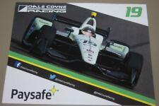 2018 Zachary Claman De Melo + Pietro Fittipaldi Paysafe Honda Indy Car postcard