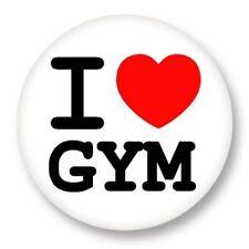 Magnet Aimant Frigo Ø38mm ♥ I Love You j'aime Sport Gym Gymnastique