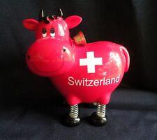 Cool Switzerland SWISS Cow BANK Spring Legs