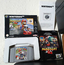 MARIO KART 64 NINTENDO 64 PAL EUR COMPLETO MANUAL INSERT BOX SCRATCHES MARKS USE