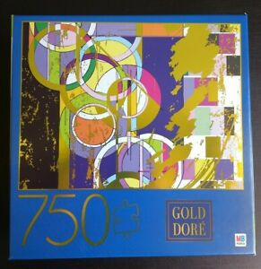 """750 Gold Dore Puzzle, """"Abstract Circles"""""""