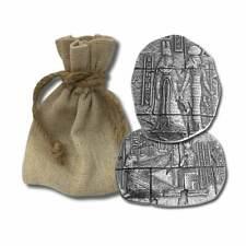 2 oz 999 Fine Silver Bar- Egyptian Relic Goddess Bar - New  - In a Cloth Bag