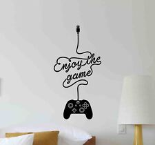 Enjoy The Game Wall Decal XBox Gamer Gift Gaming Decor Vinyl Sticker Poster 785