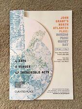 Scarce JOHN GRANT'S NORTH ATLANTIC FLUX 2017 Festival Flyer Programme Hull