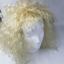 Vintage Womens Wig Blonde Long Haired Synthetic Shag Hair Rocker Costume Cosplay