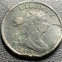 1803 Draped Bust Half Cent 1/2 Cent Better  Grade  VF Details #29033