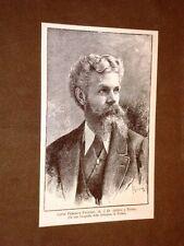 Il Conte Federico Pastoris Morto a Torino il 24 ottobre 1884