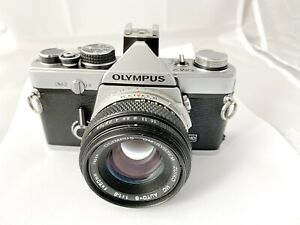 Olympus OM-2 Film Camera & 50mm f1.8 Lens, New Seals, Meter Working