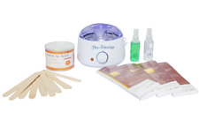 Waxing Kit for Hair Removal - Wax Warmer, 400g Wax, 10 Spatulas- 100 Strips
