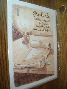 Religious: Graduate all things are possible Graduation greeting Card * G39