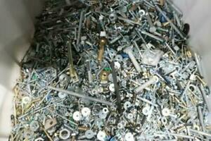 10 lbs. Bulk Assorted Loose Steel Fasteners NUTS BOLTS SCREWS WASHERS