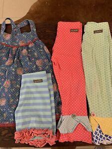 Matilda Jane Girls Lot (4 Pieces) Size 8 & 10 Ruffle Pants Shorts Cherry Tunic