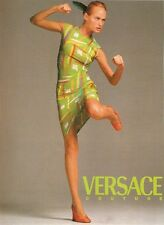 GIANNI VERSACE RUNWAY S/S 1996 Graffiti Multicolor Silk Dress Sz IT 40 US 4/6