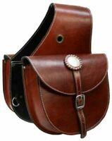 Showman Top Grain Leather Western Saddle Bag