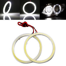 2Pcs 100MM 72smd COB LED Angel Eyes Headlight Halo Ring Warning Lamps with Cover