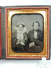 Schöne alte Daguerreotypie / Fotografie Ehepaar Trachtenkleidung  im Etui 10247