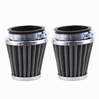 2X 50mm Intake Air Pod Filter Clamp-on Cleaner For Honda Yamaha Kawasaki Suzuki