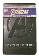 New! Avengers 4 Movie Collection - 4K UHD + Blu-Ray + Digital Steelbook Sealed!