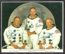 Apollo 11 Photo Reprint, Autograph Neil Armstrong, Buzz Aldrin, Michael Collins