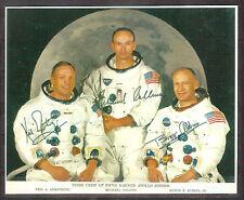 Apollo 11 Photo Reprint, Autograph Neil Armstrong, Buzz Aldrin, Michael Collins