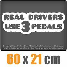 Real Drivers use 3 Pedals  chf0205 weiß 60 x 21 cm Heckscheibenaufkleber Auto