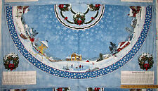 Winter's Eve Village Christmas Tree Skirt Fabric  TWO Panels   #5383