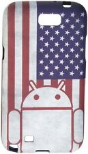 Rubber Case for Android Phone Samsung Galaxy Note II 2 American Flag Cruzerlite