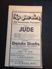 H8-1 Ephemera 1971 Advert Penzance The Garden Jude Dewar Miller Dando Shafts