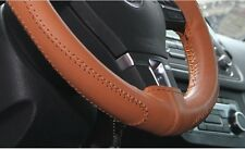 """Circle Cool 43008 Sew On Steering Wheel Cover Wrap Brown Pvc Leather 14.5""""-15"""""""