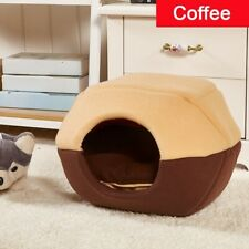New listing Us Soft Warm Cat Dog Foldable Bed House Removable Puppy Bed Cave Pet Folding Us