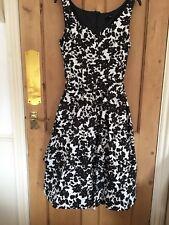 BNWT Debenhams The Colletion Black & White Cotton Summer/Party Dress Size 12