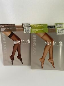 Nice Touch Thightop Size C-D Stockings 4 Pairs Pair Assorted Colors L