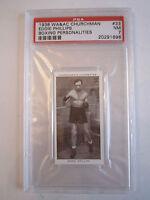 1938 EDDIE PHILLIPS BOXING CHURCHMAN PSA GRADED 7 NEAR - MINT CARD