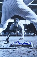 Maury Wills Signed Autographed 12X18 Photo Dodgers Slide Through Legs w/COA