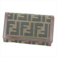 5a6a5d2e830a Fendi Wallet Purse Bifold Zucca Brown Beige Woman unisex Authentic Used  T7352