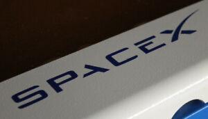 Spacex Logo Vinyl Sticker / Decal - (Blue) 190 x 30mm space x mars nasa moon jpl