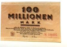 1923 Germany DORTMUND 100.000.000 / 100 Million Mark Banknote