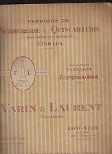 Catalogue Serrurerie et quincaillerie + Étrilles et Peignes pour Chevaux -1927