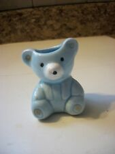 Vintage Blue Bear Toothpick Holder
