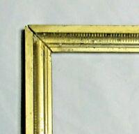 """BIG ANTIQUE Fits 18"""" X 30"""" LEMON GOLD GILT STENCILED FRAME FINE ART VICTORIAN"""