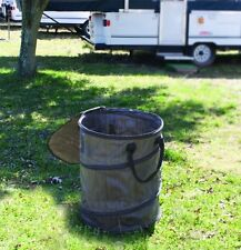 Camco Pop Up Recycle Container Camp Trash Can Dirty Clothes Bin Portable Camping