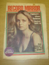 RECORD MIRROR 1976 SEP 4 TWIGGY ROD STEWART MANFRED MANN ROD STEWART DRIFTERS