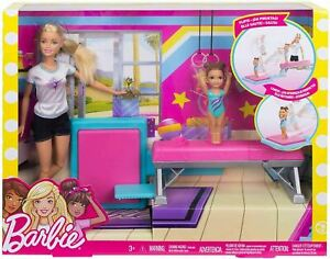 Barbie and Toddler Student Flippin Fun Gymnastics Toy Gymnast Hasbro Mattel NEW