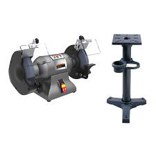 Jet 8 Industrial Grinder Withgrayjet Iron 3713 Pedestal Stand Withcoolant Tank