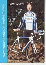 CYCLISME carte cycliste BRITTA NADLER  équipe KOGA-MIYATA  signée