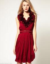 Karen Millen Patternless Silk Regular Size Dresses for Women