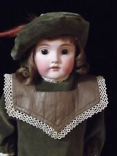 "Adorable Antique German Kestner 154 Bisque Head Kid Body 16"" Doll"