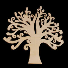 New Tree Simple Shape Laser Cut Wooden Shape Wood Craft Arts Home Office Decor