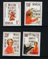 Senegal 1991 Wolfgang Amadeus Mozart Composer Conductor Music SC 967-970 MNH