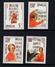 Senegal 1991 Wolfgang Amadeus Mozart Composer Conductor Music SC 967-970 MNH
